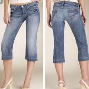 7 FOR ALL MANKIND Dojo Distressed Cropped Jeans